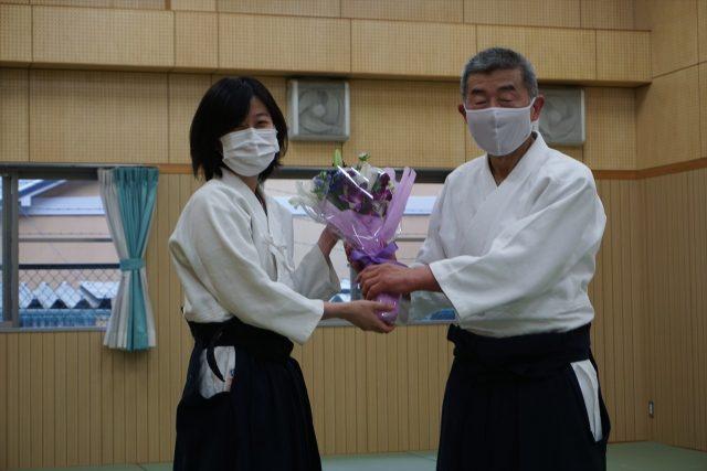 関師範への古希お祝い